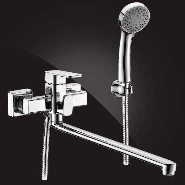 Смеситель Elghansa MONDSCHEIN 5302235 для ванны однорычажный с душевым комплектом, хром