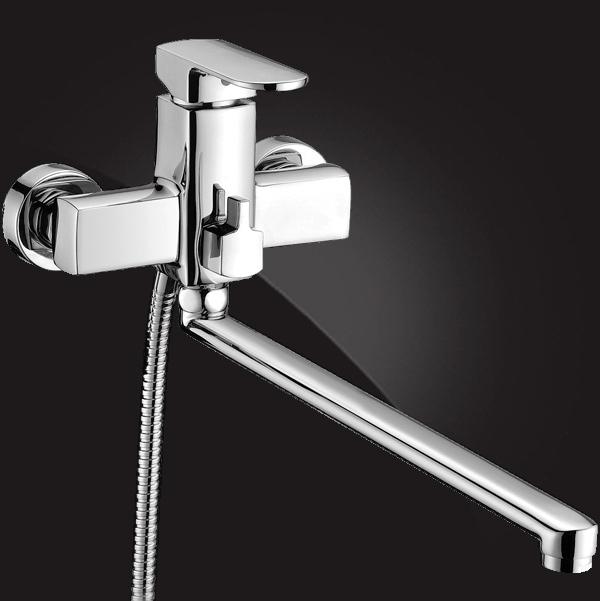 Смеситель Elghansa SCARLETT 5322225 для ванны однорычажный с душевым комплектом, хром