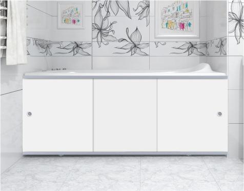 Экран для ванны ПРЕМИУМ А (алюм. профиль) белый